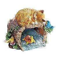 Sleepy Kitty装饰羽绒服盖延长园装饰