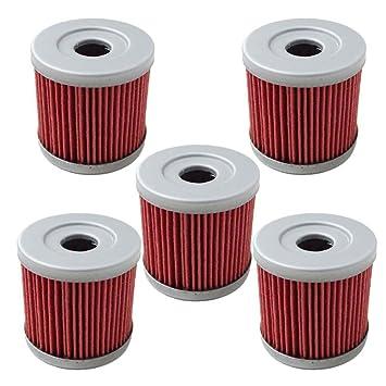Amazon.com: hifrom 5 unidades filtro de aceite Fit para ...