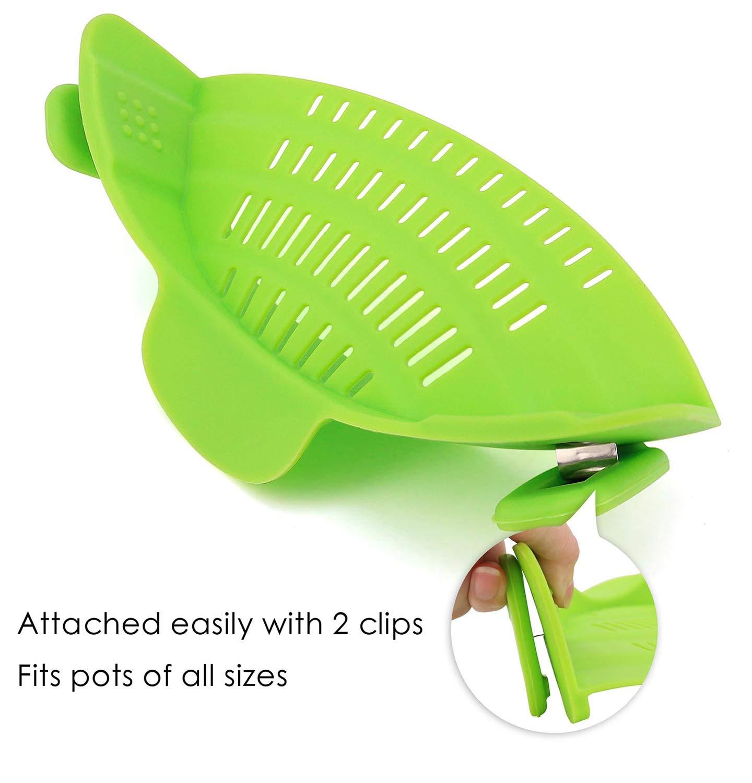 Amazon.com: Colador plegable de silicona con mango de acero ...