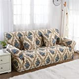 RUGAI-UE Sofa Slipcover sofa cover tight fitted elastic gasket cover three upholstered sofa full four living room,Three seater sofa long 190-230cm,American impression