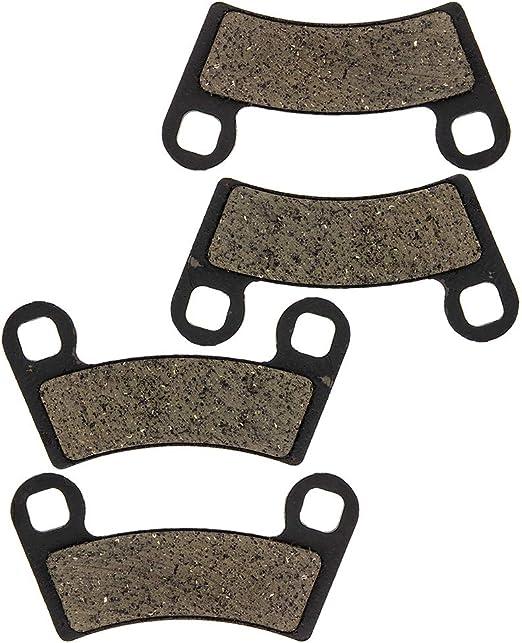 NICHE Brake Pad Kit for Polaris RZR 570 800 Outlaw 525 2203318 2202412 2201398 1910678 Complete Organic