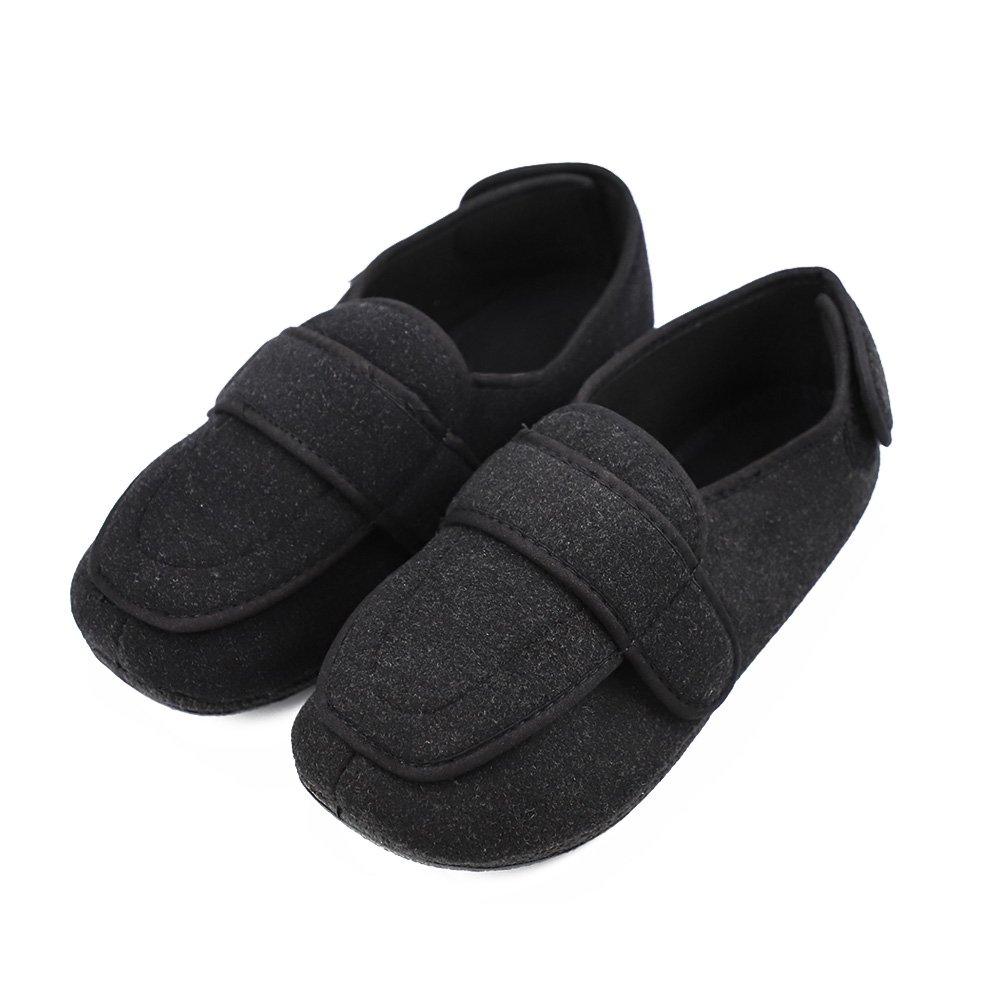 Men's Memory Foam Diabetic Slippers with Adjustable Closures,Comfy Warm Extra-Depth & Wide Fleece Arthritis Edema Swollen House Shoes by Hotme