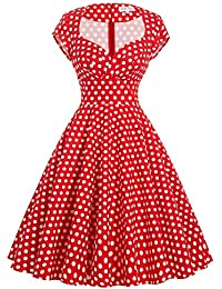Belle Poque Women's 50's Cap Shoulder Knee-Length Vintage Church Dresses Size S-XL