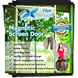 #7: Flux Phenom Reinforced Magnetic Screen Door, Fits Doors Up To 38 x 82-Inch