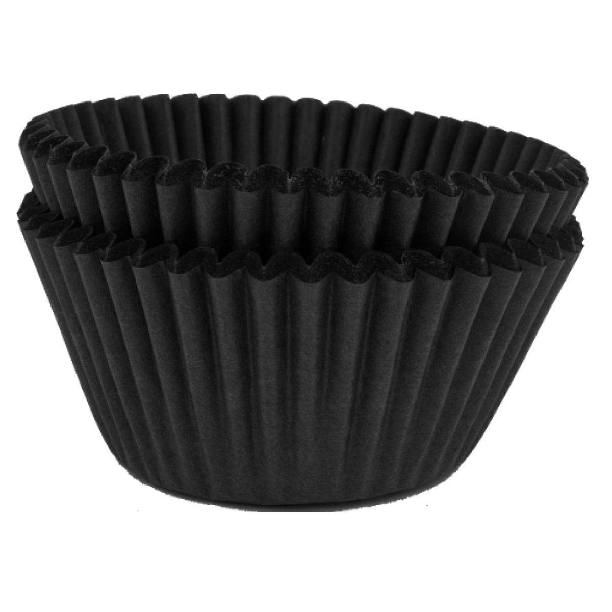 High Quality Paper Muffin, Cupcake Cases - Plain Black - Pack of 50 Cake Star