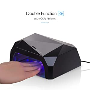 Y&S Nail Dryer UV Lamp/ Light For Acrylic, Gelish Curing,UV / LED Lamps for UV