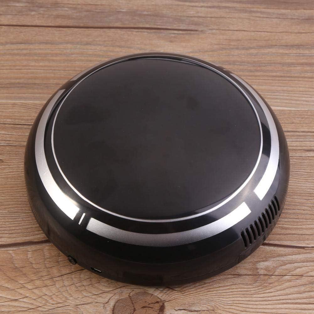 Zerodis Robot Aspirador, Automático USB Recargable Robot Inteligente Aspirador Limpiador de Piso Barrido Succión Máquina de Barrido Robot(Black): Amazon.es: Hogar