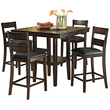 Magnificent Standard Furniture Pendwood Counter Height Dining Table Set Dark Cherry Brown Gmtry Best Dining Table And Chair Ideas Images Gmtryco