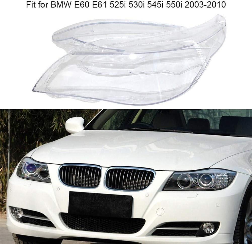 Wuhan Scheinwerfer L/öschen Cover rechts vorne Scheinwerferglas Fit for BMW E60 E61 525i 530i 545i 550i 2003-2010 Autoteil mit Montageware Color : Clear