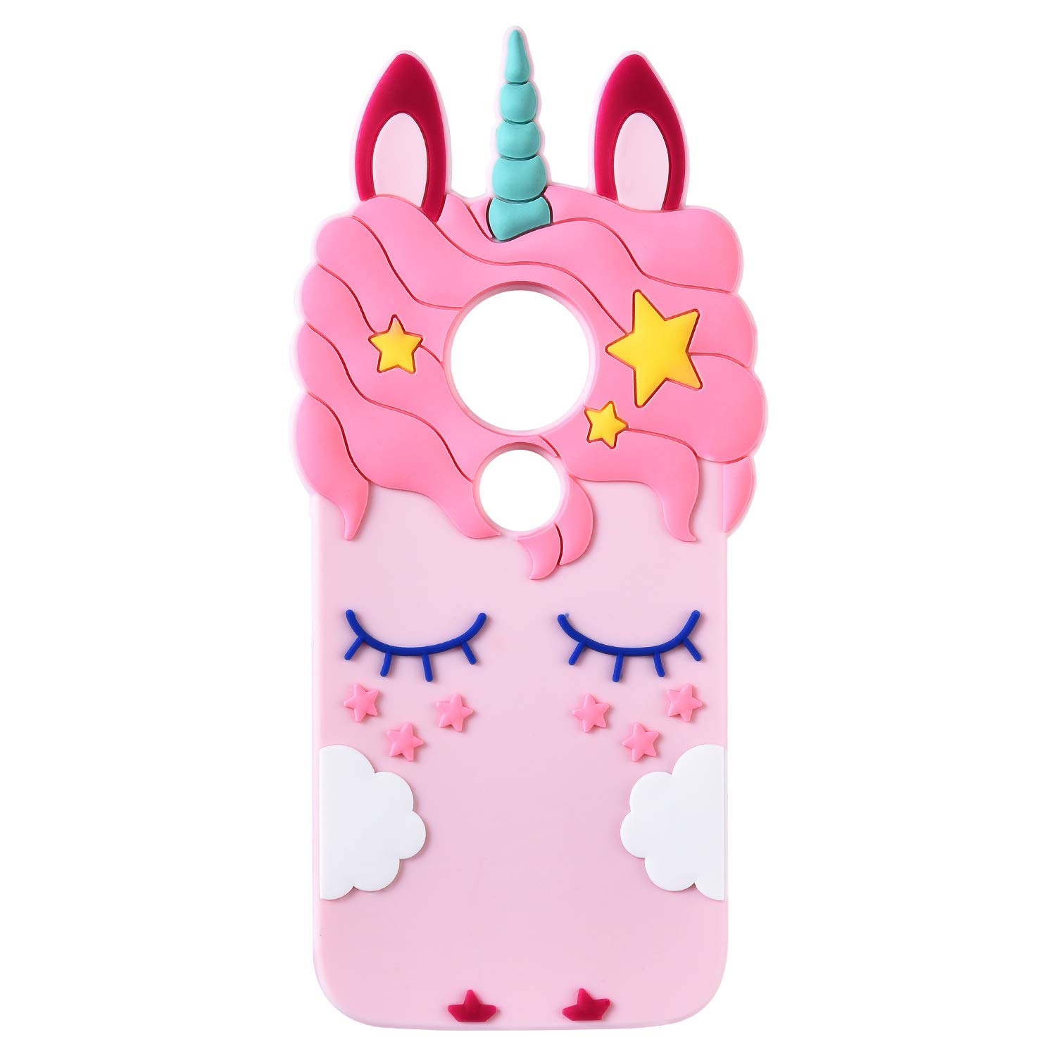 release date 014f9 f5638 TopSZ Pink Unicorn Case for Motorola Moto E5 Play,Moto E5 Cruise,3D Cartoon  Silicone Character Kawaii Animal Cover,Cute Girls Kids Teens Guys Funny ...