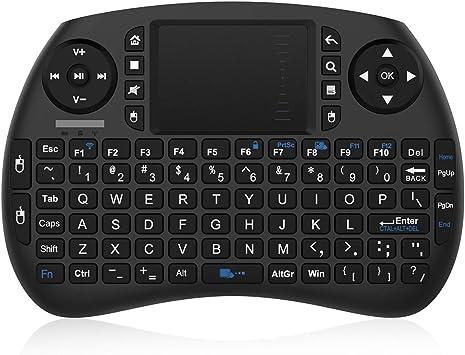 Bqeel 2.4GHz Mini Teclado inalámbrico Touchpad ratón,Batería Recargable para Raspberry Pi Android TV Box, Google TV Box,Pad PC Smart TV: Amazon.es: Electrónica