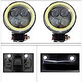 Vheelocityin 4 LED Light White Angel Eye Car DRL Fog Lamp LED - 2PC