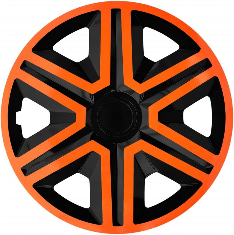 Nrm Action 4 X Universal Radzierblenden Radkappen Satz 4er Set Auto Kfz Zoll Orange Schwarz 14 Auto