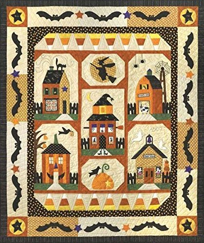 Sew Spooky Fall Autumn Halloween Town Witch Bat Set of 6 The Quilt Company Patterns by Quilt