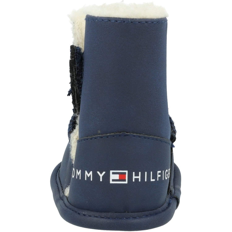 Tommy Hilfiger T0A5-30404-0769 Armada Eco Suede Beb/é Plantas del Pie Suaves Zapatos