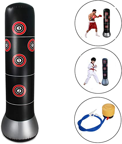 Amazon.com: Wolfsport Fitness - Saco de boxeo inflable para ...