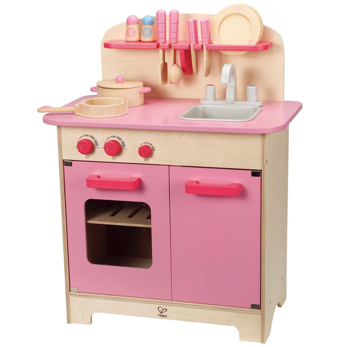Hape Kinderküche Pink mit Zubehör