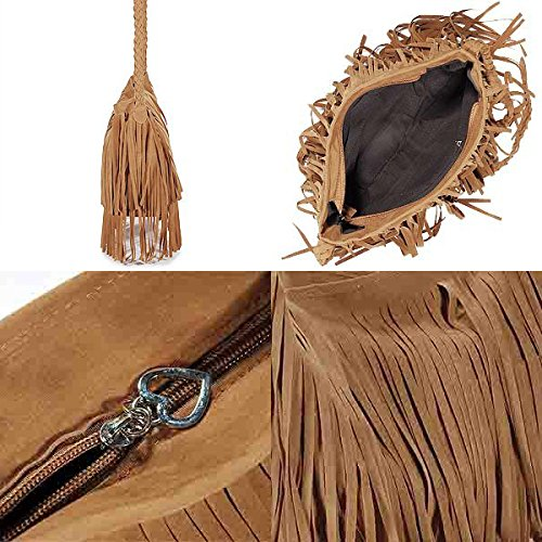 borsetta - SODIAL(R) spalla della borsa di frange borsa donna tendenza Bruno