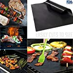 BBQ Grill Oven/Cooking Gloves-Meat Claws Set - Targher 5 in 1 BBQ Set with Silicone BBQ Gloves , Bear Claws, Digital Cooking Thermometer, Silicone Basting Brush and Non-stick BBQ Baking Mat - For Indoor & Outdoor Cooking 15 ► EXTREME HEAT RESISTANT WITH PREMIUM QUALITY- Each mitt of Targher BBQ gloves is crafted with aramid fabric, a type of high performance, and heavy duty synthetic known for its ability to withstand high heat and repeated use. Each Inner liner is crafted with heat resistant polyester cotton, 2 - Level system protect your hands! The highest heat resistant is available up to 932°F/500°C. Your safety protection is first and essential. ► MULTI-FUNTION AND VERSATILE- This BBQ Cooking gloves are not just perfect ACCESSORIES for Grill but also a good helper for kitchenware. GREAT for opening a jar, taking out your hot bread from oven, fireplace logs, car repair, welding, light-bulb changes and more! Perfect to protect your hands for grilling, cooking, baking, or handling super-hot items in the kitchen and outdoors.. ► NO-SLIP SILICONE AND FOREARM PROTECTION- Silicone super-grip surface to prevent anything slipping from your grasp and 5 inches cuff keeps your wrists and lower forearms protected from high temperatures. It allows your hands & fingers move freely, minimize fatigue Silicone strips on palm & back of hand, anti-skid, good for holding large bowl with soup by flexible right handed & left handed! You will cook longer, stronger!