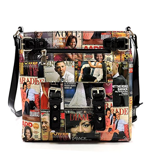 Body Michelle Cover Satchel Magazine Bag Bag Clutch Glossy Obama Shoulder Q6 Cross Collage multi x0qpw4ntd