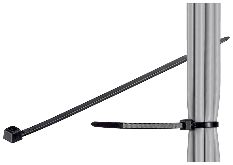 Manax - Fascetta stringicavo, in nylon resistente alle intemperie, resistente a raggi UV, 142 x 3,5 mm, colore nero 1000 pz sonstige