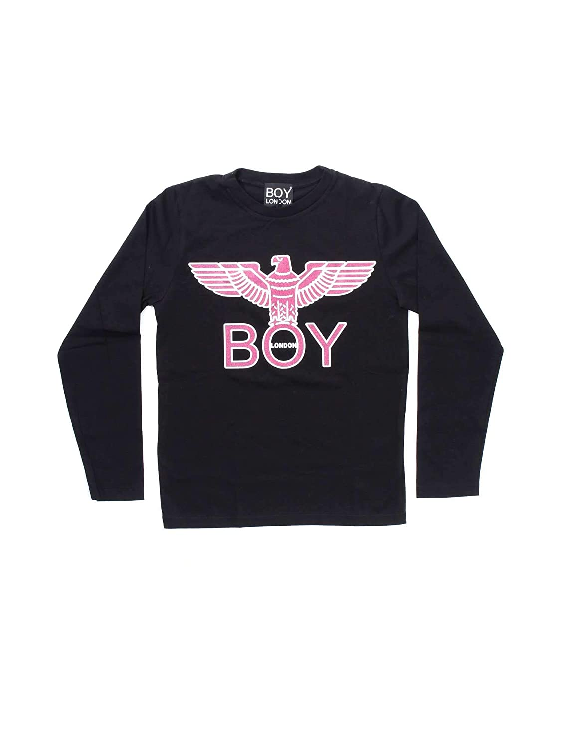 BOY LONDON T Shirt Grigia con Logo Fucsia XXX: Amazon.it