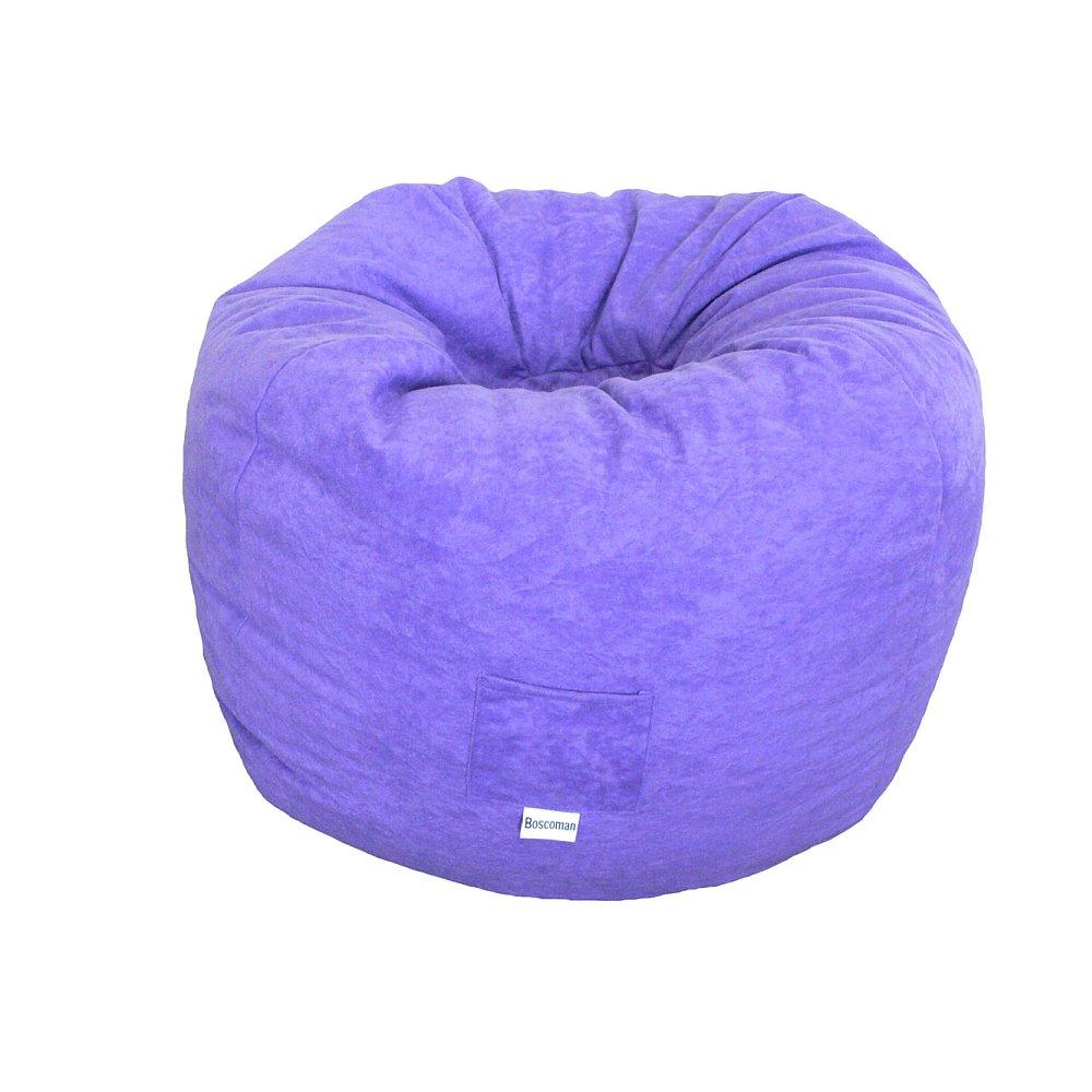 Boscoman - Teen Faux-Suede Beanbag Chair - Purple (BOX M) Jansonic Ltd.