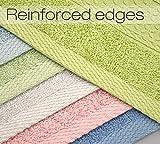 Cleanbear Pure Cotton Wash Cloths Face Cloths, 6