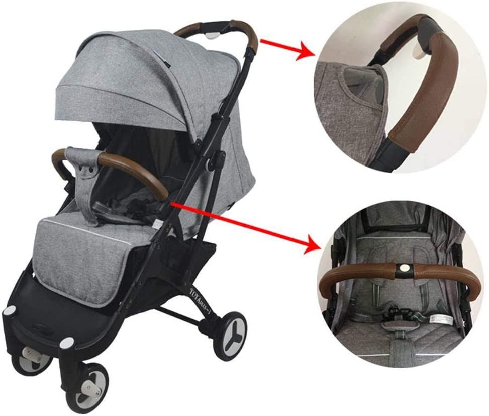 4PCS//Pack Baby Stroller Armrest Leather Cover Protective Cover Universal Accessories Riosupply Pram Handle Cover