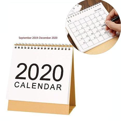 Calendario de Mesa 2019-2020,Calendario Escritorio mensual ...