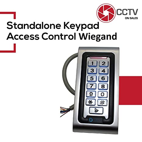 Standalone Access Control Professional Keypad+RFID Reader 125KHz Wiegand 26 Illuminated Metal Case Indoor/