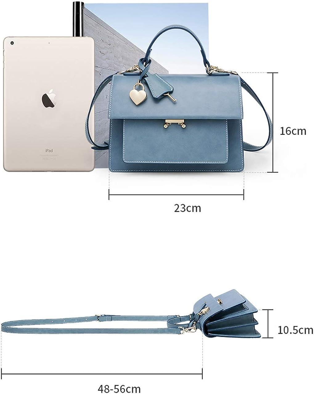 Borsa a tracolla da donna alla moda, borsa a tracolla stile elegante borsa piccola borsa quadrata di grande capacità, adatta per acquisti e appuntamenti di shopping Brown
