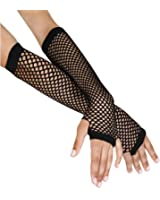 1980's Cindy Lauper Costume Accessory Long Fishnet Gloves - Many Colors Available