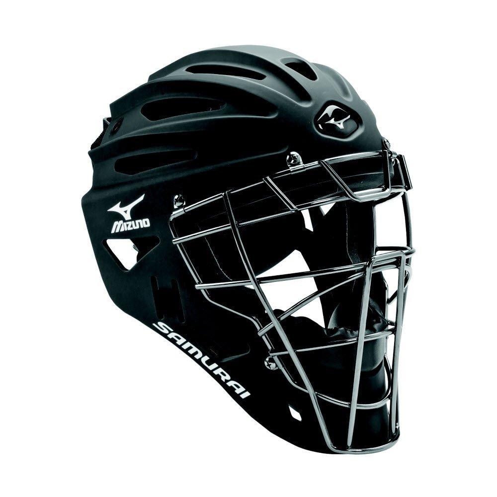 Mizuno 380192.9090.01.0000 Samurai G4 Youth Baseball Catcher's Helmet Black (9090) NO Size (0000) by Mizuno