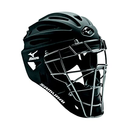 Amazoncom Mizuno Youth G4 Samurai Catchers Helmet Black