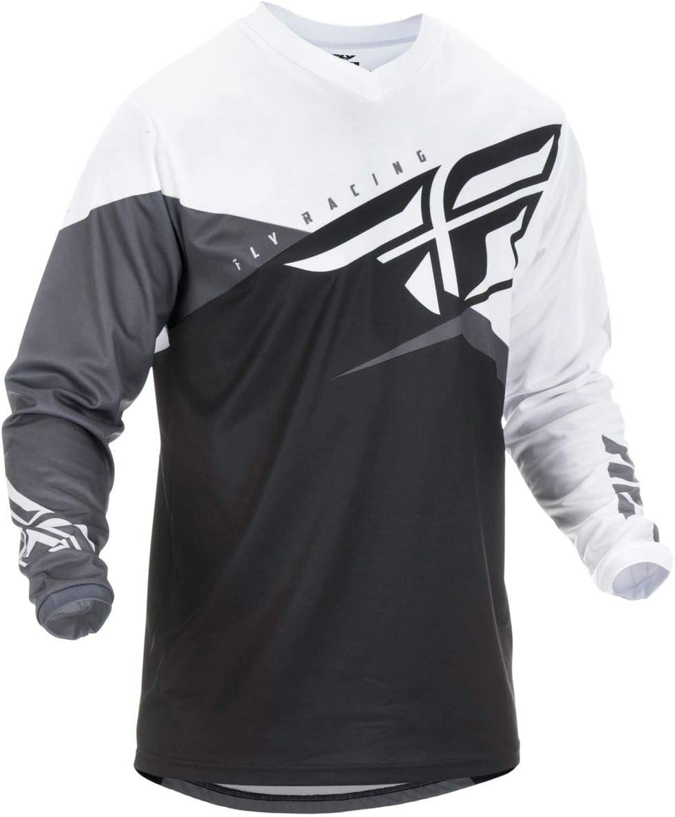 Black//White//Grey X-Large Fly Racing 2019 Youth F-16 Jersey