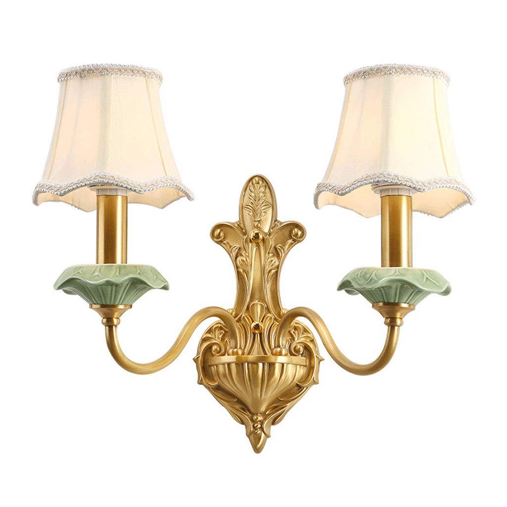 trova il tuo preferito qui Lampade da da da parete YM, Salotto di Fascia Alta in Rame in Stile Nordico, Ristorante da Giardino Americano a Doppia Testa  scegli il tuo preferito