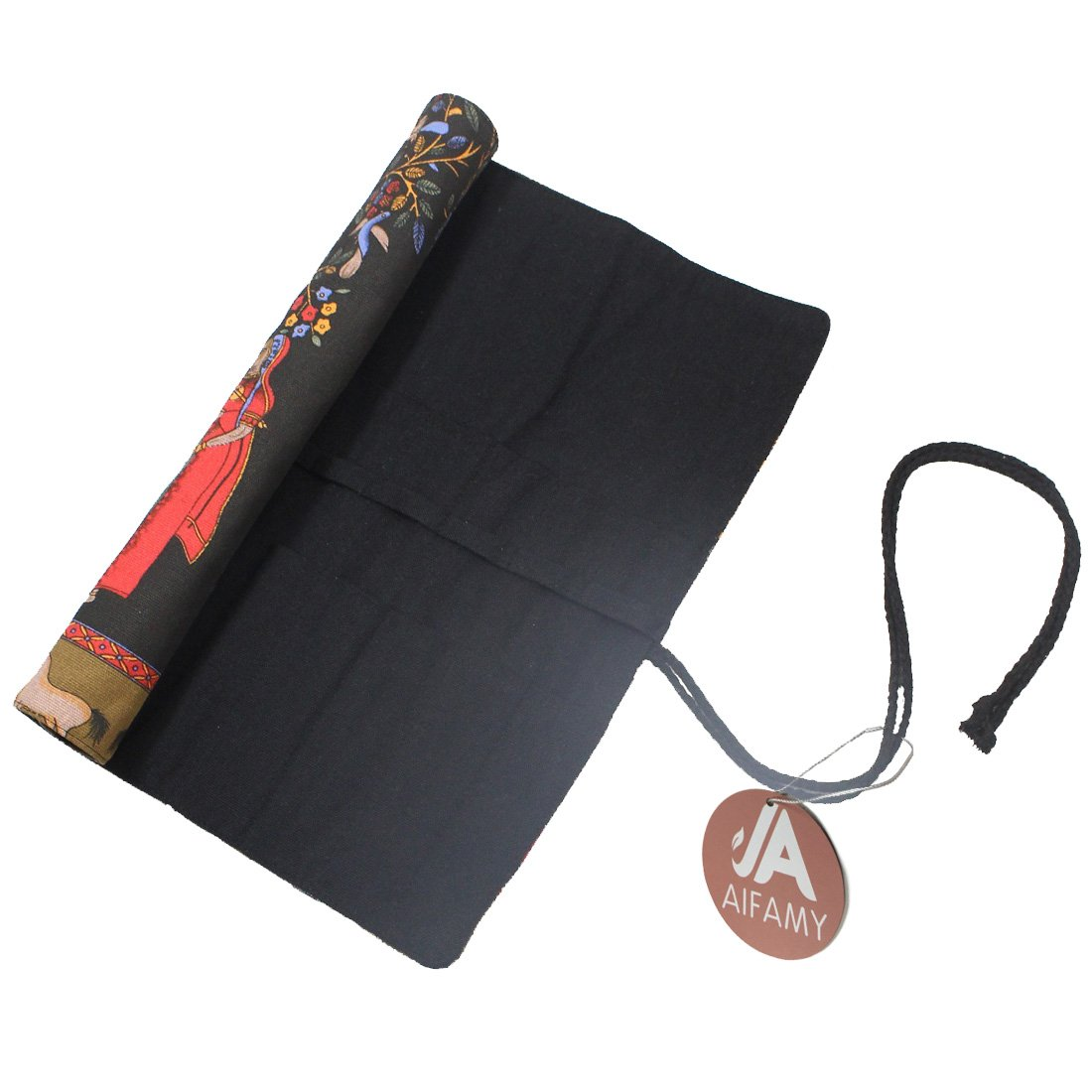 15 Inches Artist Paint Brushes Case Roll Up Pen Holder Canvas Pouch Bag (Ancient Egyptian Style without Brushes) A AIFAMY 4336938412
