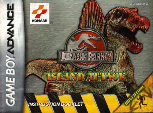 Jurassic Park - Island Attack GBA Instruction Booklet (Game Boy Advance Manual Only) (Nintendo Game Boy Advance (Jurassic Park Island Attack)