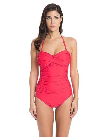 c94f141330d54 Amazon.com  Ocean Blues Women s Swim Standard Ruched One-Piece Swimsuit   Clothing