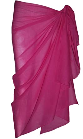 db8165101c28b Image Unavailable. Image not available for. Colour: Plain Fuschia Cotton  Sarong