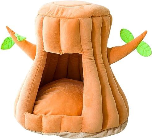LXHK Cueva Lavable para Gatos con Cojines Extraíbles Saco de Dormir Suave y Cómodo Cesto Cama para Perros Gatos Conejos Mascota,S/38 * 38 * 40cm: Amazon.es: Hogar