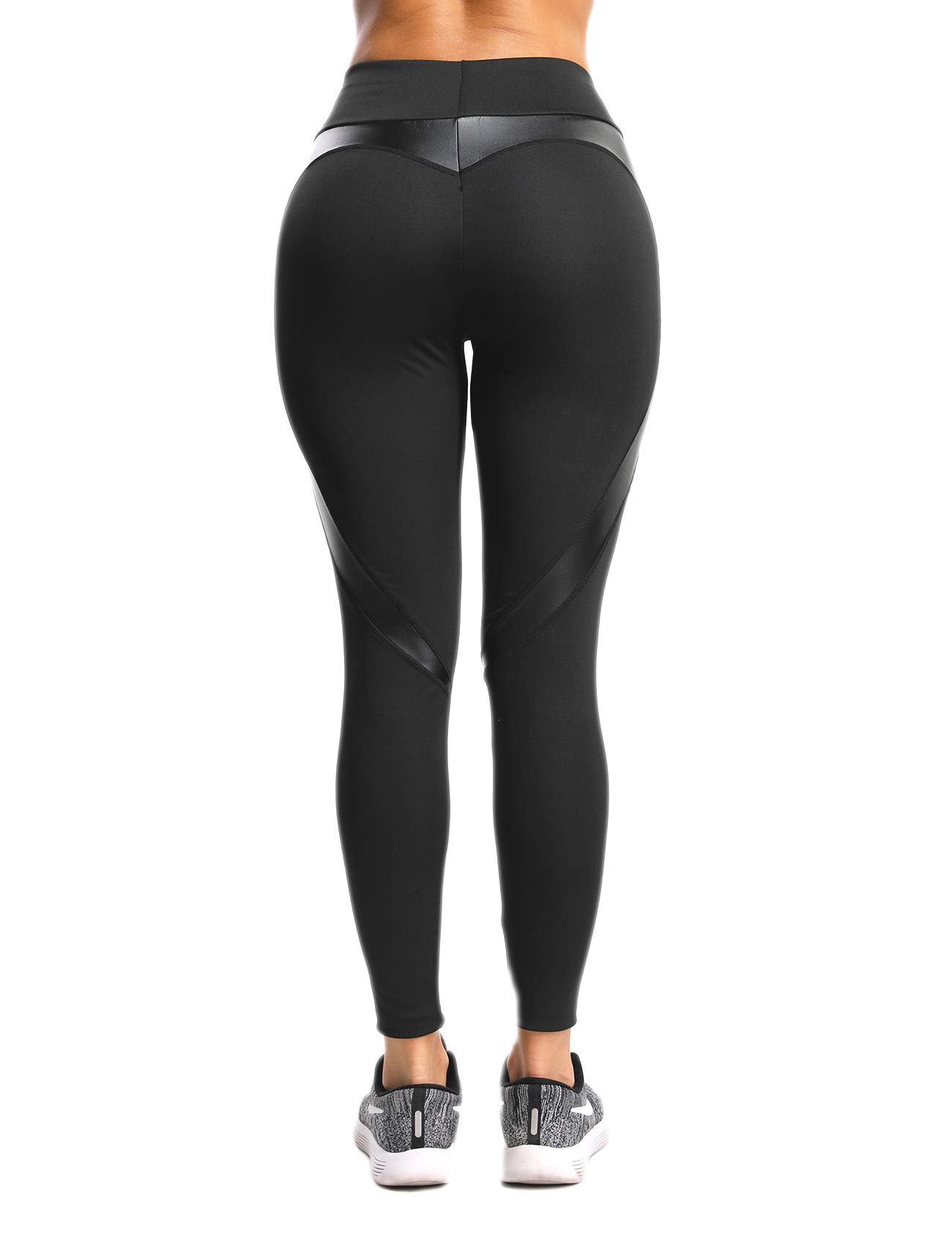 232dd7359f7e8a SEASUM Women Yoga Pants Heart Shape Patchwork Leggings High Waist Capris  Workout Sport Fitness Gym Tights S