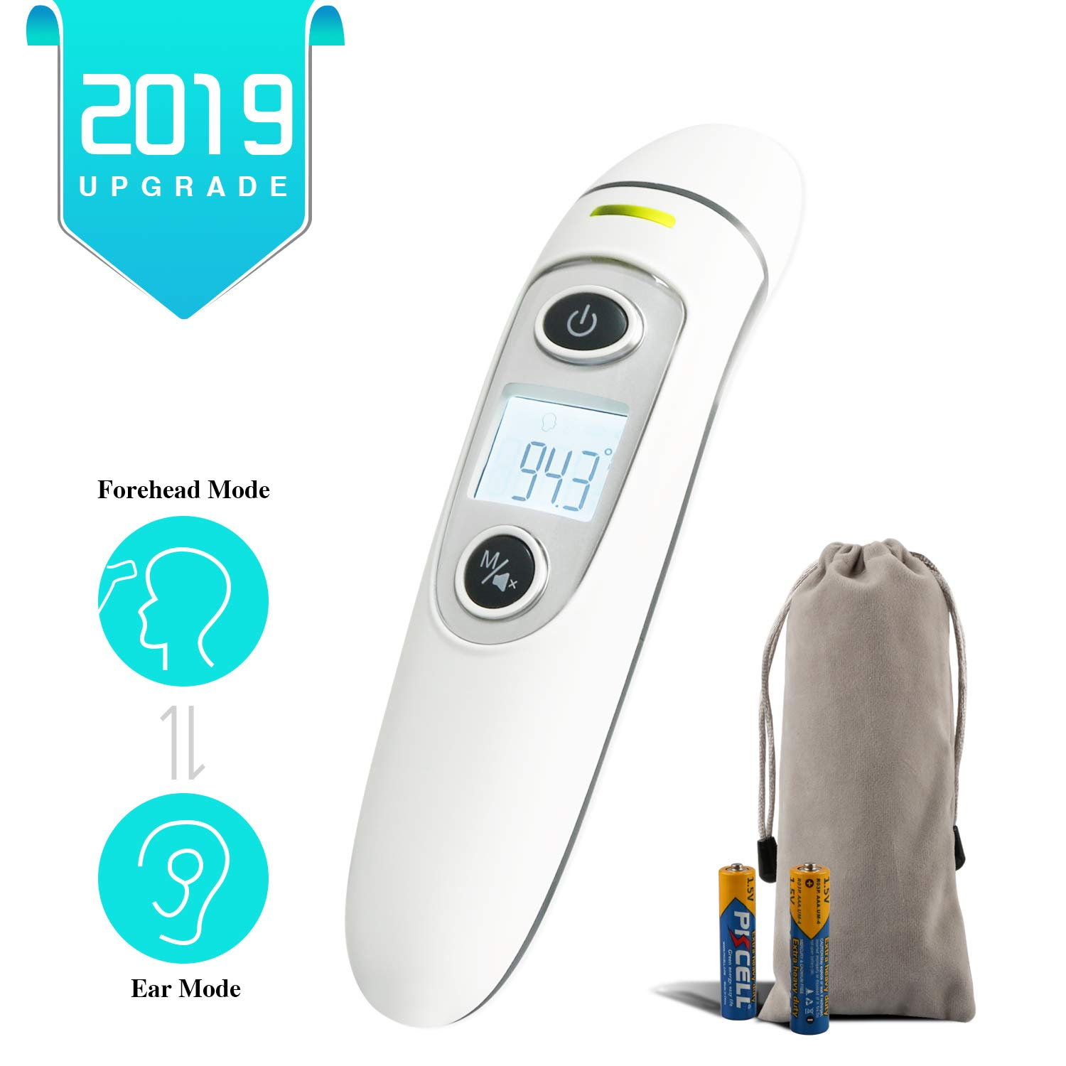 Baby Thermometer – Ear and Forehead, Digital Infrared Temporal Thermometer for Fever, Instant Accurate Reading for Baby Kids and Adults