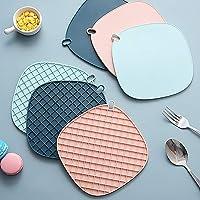 LIVHIVE Premium Silicone Trivet Mats, Multipurpose Hot Pot Holders, Hot Pots and Pans Drying Mat, Thick Countertop Mat…