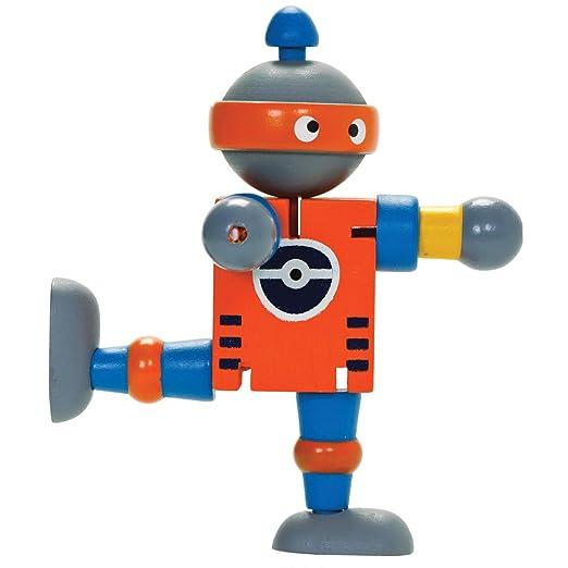 2 opinioni per Robot Flessibile in legno- Robot giocattolo in legno dipinto con articolazioni