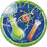 Creative Converting Mad Scientist Sturdy Style Paper Dessert Plates (8 Count), 7''