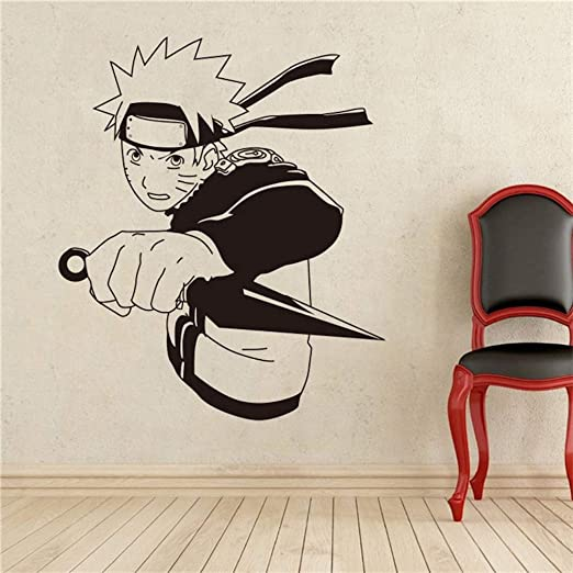 EASTVAPS Naruto Uzumaki Shuriken Pegatinas de Pared Tatuajes de ...