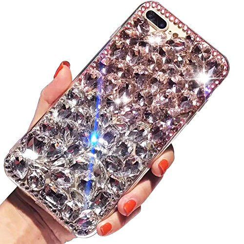 se,For iPhone 8 Plus Case,SKYXD 3D Luxury Handmade Glitter Rhinestone Bling Full Crystal Diamond Jewelry Back Case Cover for iPhone 7 Plus/8 Plus 5.5
