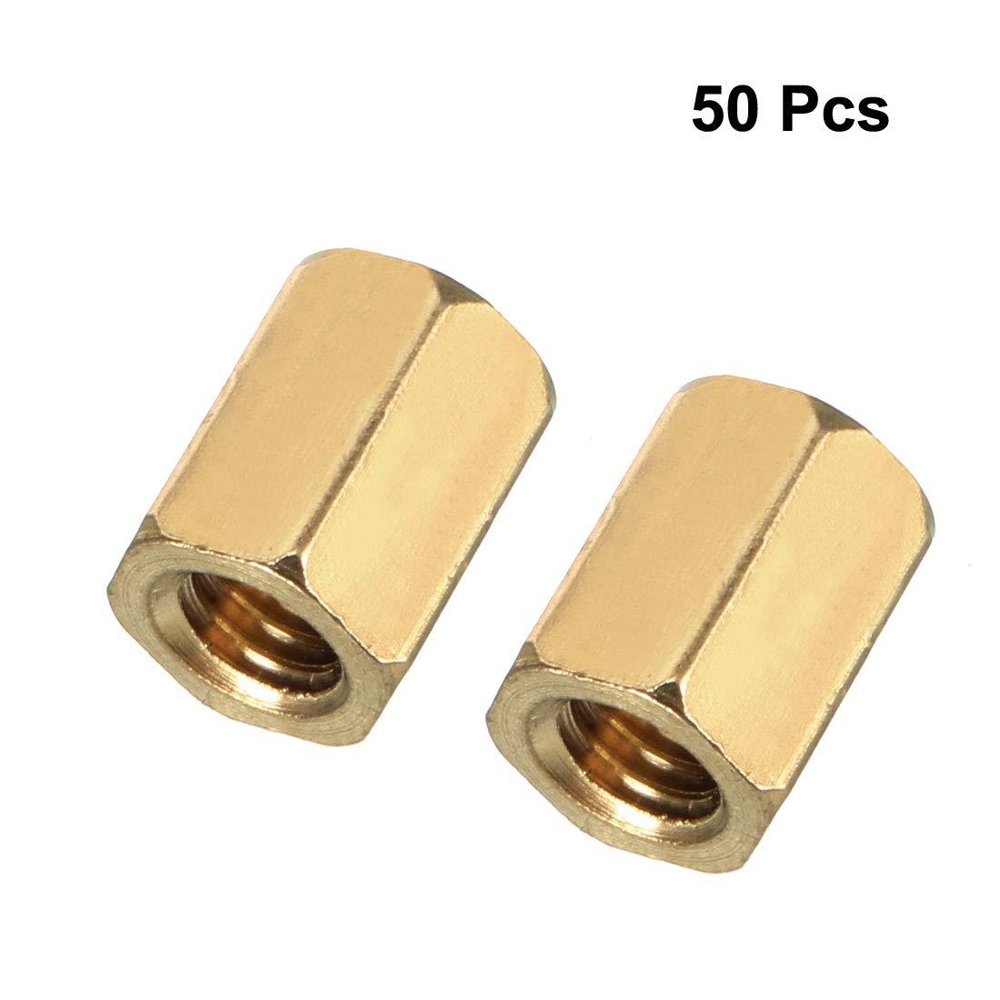 10pcs m3x6mm macho a rosca hexagonal enfrentamiento espaciador de 10 mm de largo del cuerpo femenino Sourcingmap
